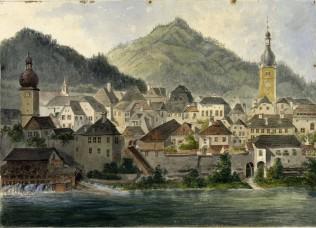 Abb. 3. HWY 1953 Gouache. Waidhofen Schleifmühlen 1871 72